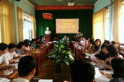 Tổ chức Hội thảo công tác chủ nhiệm năm học 2018 – 2019.