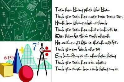 Thơ: Tình yêu Toán học (Tổ Toán Tin)